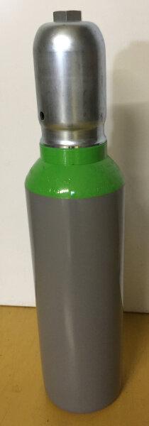 """Stahlflasche 5 Liter 300bar mit Ventil G5/8"""" Anschluss Druckluft nach DIN, Schutzkappe"""