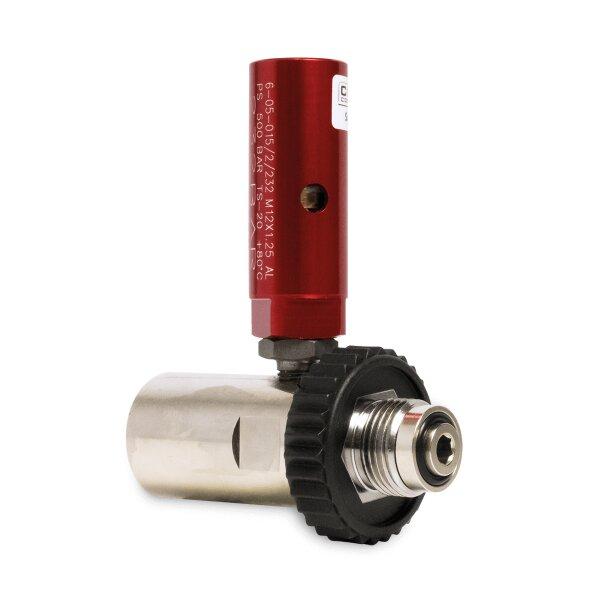 """Sicherheits Fülladapter G5/8"""" 300 bar - G5/8"""" 200bar mit 232bar Sicherheitsventil"""