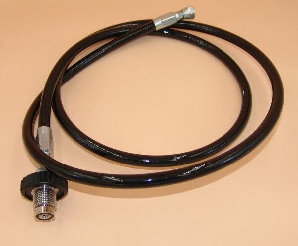 """Kompressorfüllschlauch  für Druckluft bis 315bar, mit Anschluß G 5/8"""" Aussengewinde, Gegenseite G1/4"""" Überwurfmutter mit 60° Dichtkegel"""
