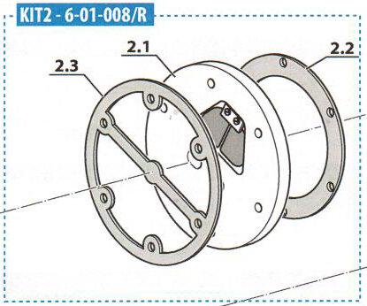 KIT 1. Stufe MCH6 Zylinderkopf (KIT TESTA 1°STADIO)