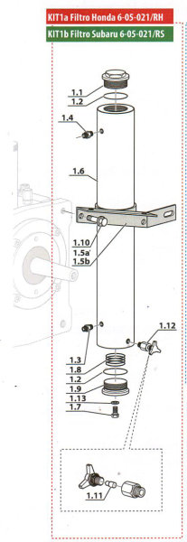 Filtergehäuse Kit für MCH6 für Honda - EM - ET