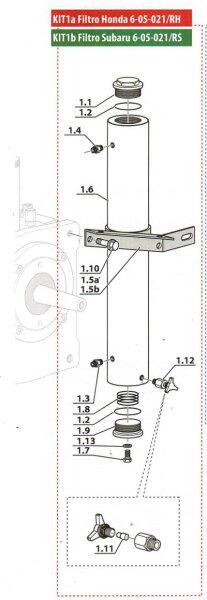 Filtergehäuse Kit für MCH6 für Subaru - EM - ET