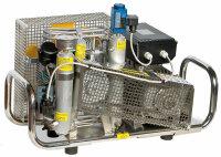 Atemluftkompressor 90 l/min E-Motor 230 V 300bar Edelstahlgehäuse