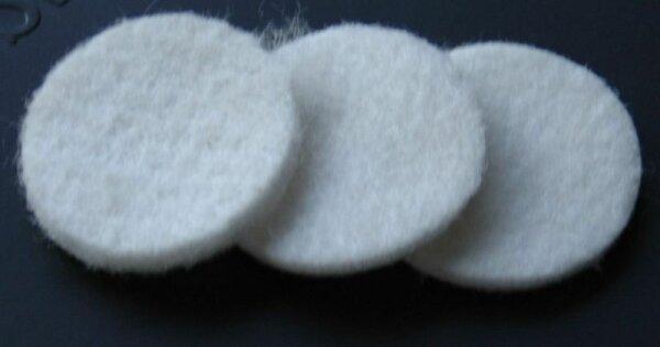 Filzscheiben für Atemluftfilter mit 25mm Durchmesser