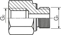 """Adapter R3/8"""" Aussengewinde - R1/4"""" Innengewinde ( Reduzierung )"""