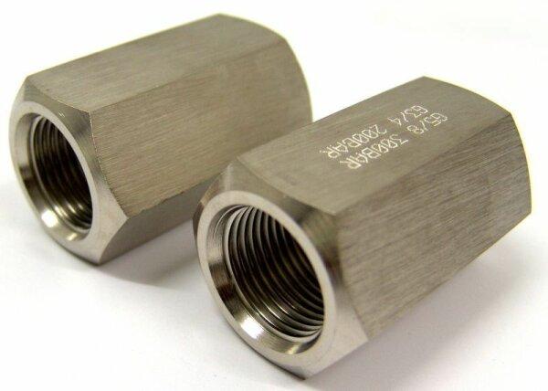 """Gewindeadapter 300 bar Druckluft G 5/8"""" Innengewinde - Sauerstoff 200bar G 3/4"""" Innengewinde"""